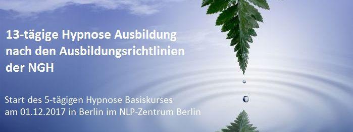 13-tägige Hypnose Ausbildung in Berlin