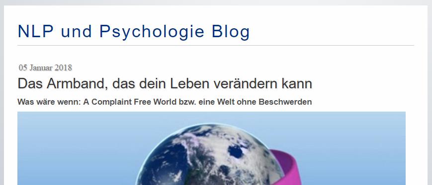 Der NLP und Psychologie Blog